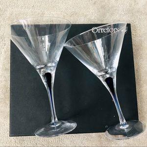 Orrerfors Martini glasses set of 2